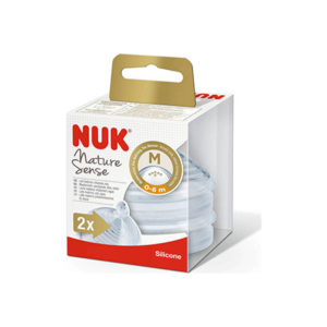nuk-nature-sense-thili-silikonis-medium-0-6m-x2